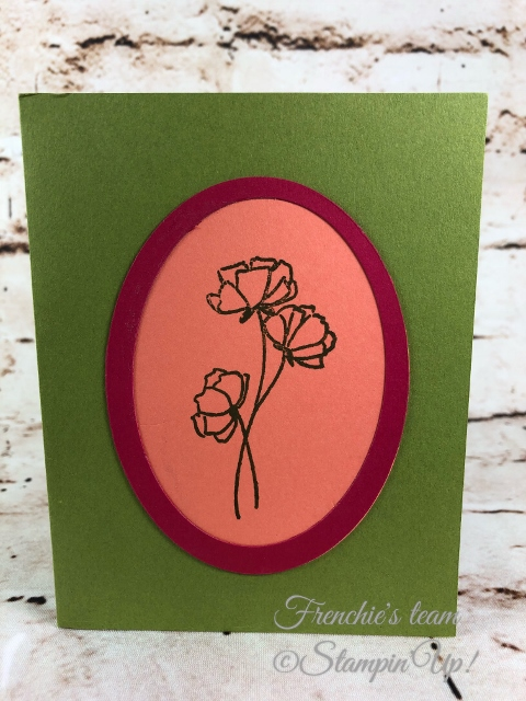 2018-2020 Stampin'Up! in-Colors, Frenchie Team challenge, Love What You Do