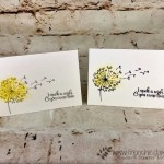 Danelion Wishes, Touch of Textures, Simple Note Card, Frenchie Stamps, Stampin