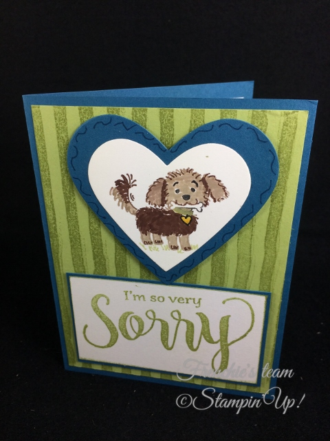 Bella and Friends, Sorry for Everything,  Frenchie' Team, Stampin'Up!