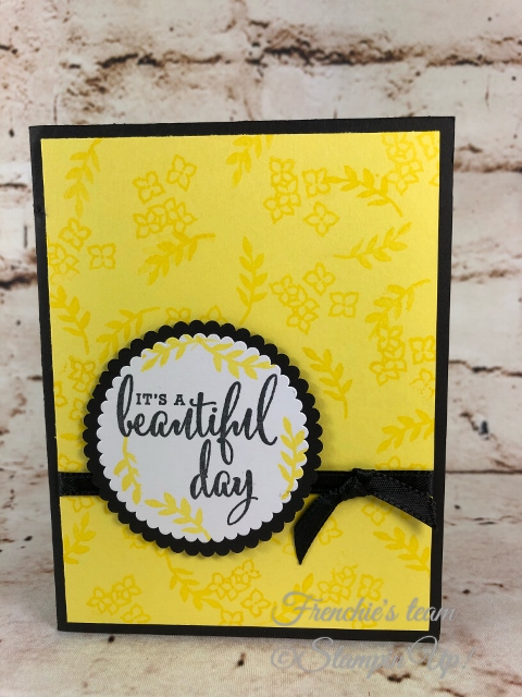 2018-2020 Stampin'Up! in-Colors, Frenchie Team challenge, Love What You Do,