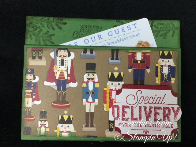 Frenchie's Team, Gift Card Holder, Stampin'Up!, Merry Little Labels, Christmas Around the World