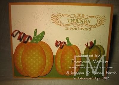 Oval Punch Art Pumpkins