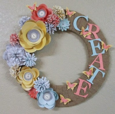 Create Burlap Wreath