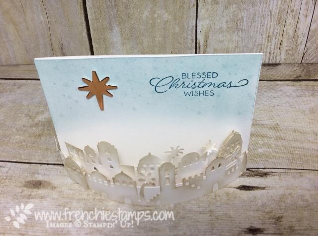 Bend Fold Card, Night in Bethlehem, Bethlehem Edgelits Dies, Stampin'Up!, Frenchiestamps