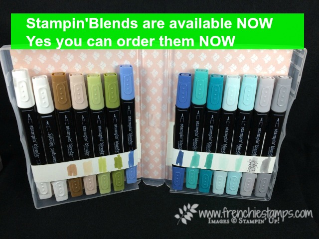 Stampin'Up! Stamping Blends, Available stampin' Blends, Frenchiestamps,