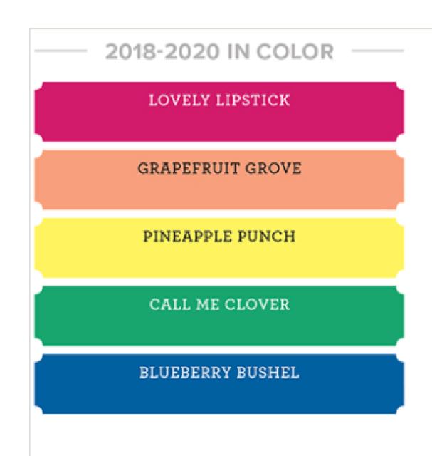 New In-Colors 2018-2020 Stampin'Up! Early Release, Frenchiestamps,