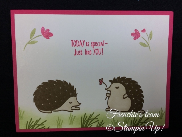 Hedgehugs,  Sale a Bration and Occasion Stampin'Up! 2018, Frenchie stamps in the Spotlight,