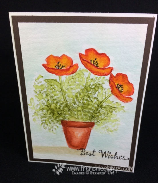 Wild Watercolor, Crafting Forever, Awesomely Artistic, Birthday Blooms, Stampin'Up!