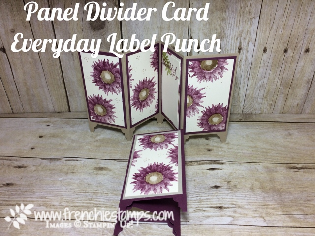 Painted Harvest, Divider Panel Card, Frenchiestamps, Everyday Label Punch, Stampin'Up!, Fresh Fig, Rich Razzelberry