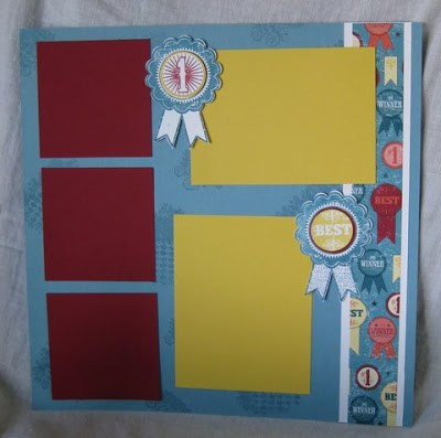 Stampin'Up! Blue Ribbon for scrapbook