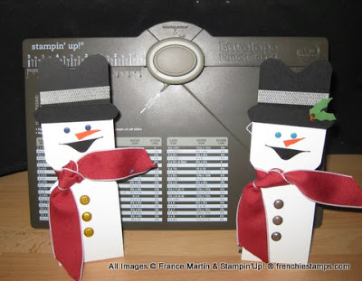York Peppermint Pattie Snowman, Frenchiestamps, envelop punch Board, stampin'up