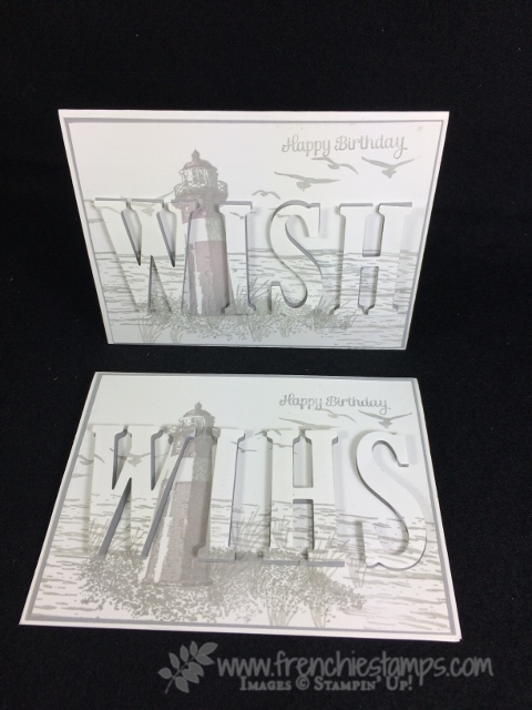 Large Letter Framelits, Monochromatic, Stampin'Up!, Frenchiestamps,