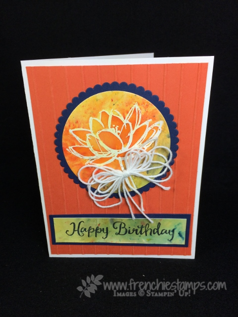 remarkable you, Feather Together, Brusho, Bow, Stampin'Up!,