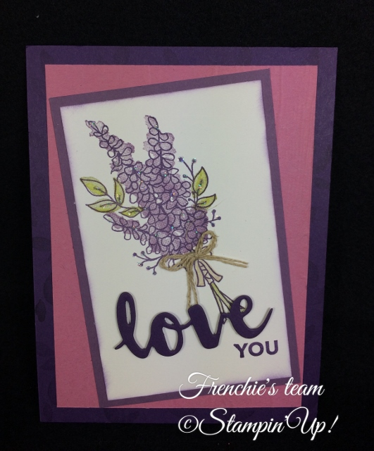 Lots of Lavender,  Sale a Bration and Occasion Stampin'Up! 2018, Frenchie stamps in the Spotlight,