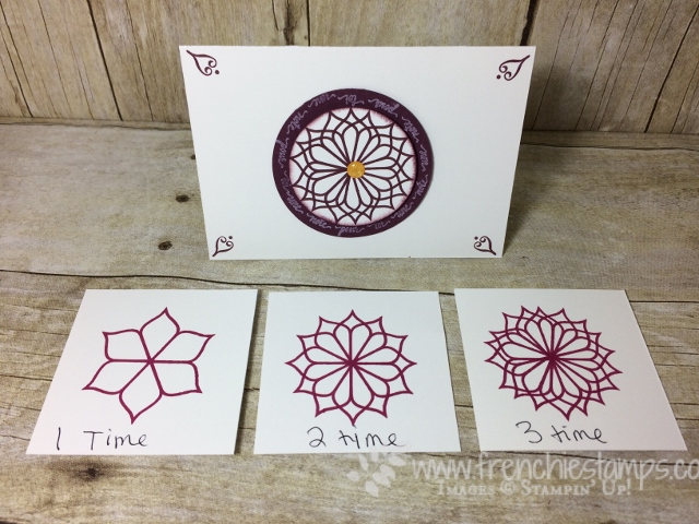 Eastern Beauty, Look like spirograph,  Stampin'Up!