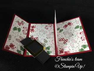 Frenchie's Team, Gift Card Holder, Stampin'Up!, Be Merry designer paper