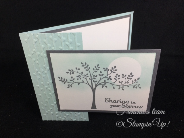 Thoughts and Prayers, Stampin'Up!, Frenchie' Team