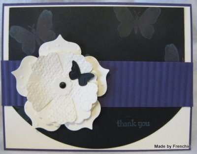 Stampin'Up! Embossing Folder with Fun Flowers….