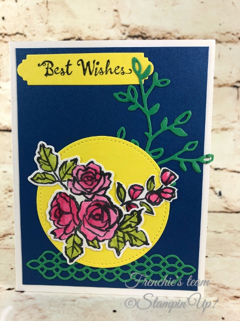 2018-2020 Stampin'Up! in-Colors, Frenchie Team challenge, Petal Palette