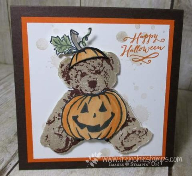 Halloween Baby Bear with Jar of Haunts