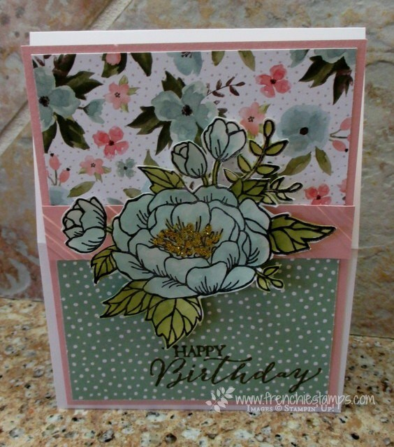 Easel card with Birthday Blooms