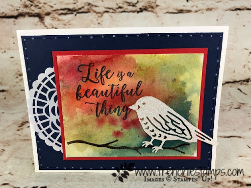 Birds & Blooms Thinlites Die, Colorful Seasons, Brusho, Stampin'Up!, Frenchiestamps,