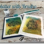 Splatter with Brusho, Stampin
