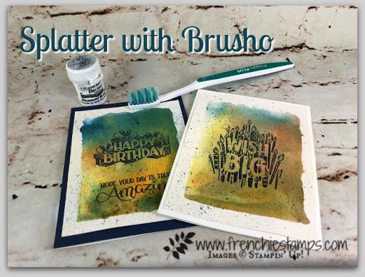 Splatter with Brusho