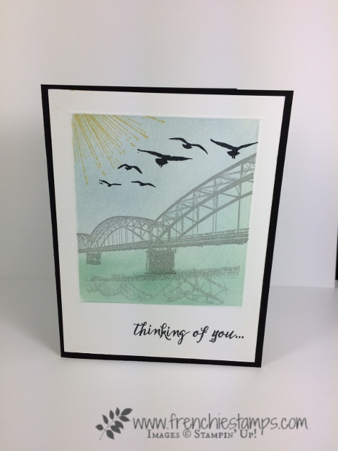 Wherever You Go, Feather Together, Polaroid Technique, Stampin'Up! Frenchie Stamps,
