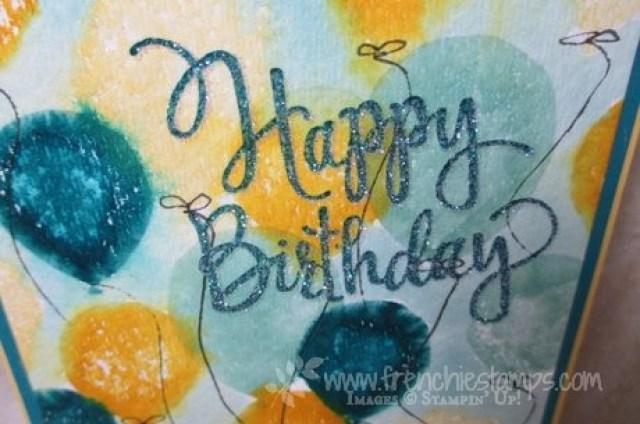 Balloon Celebration, Stylized Birthday, stampin'Up! Frenchiestamps