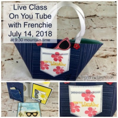 Frenchie' Live on You tube, Free Stamping Class Live July 14th 2018,
