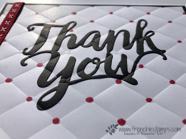 Tufted Embossing Folder, Thank YOU Thinlits, Inlaid Technique, stampin'up, frenchie Stamps,