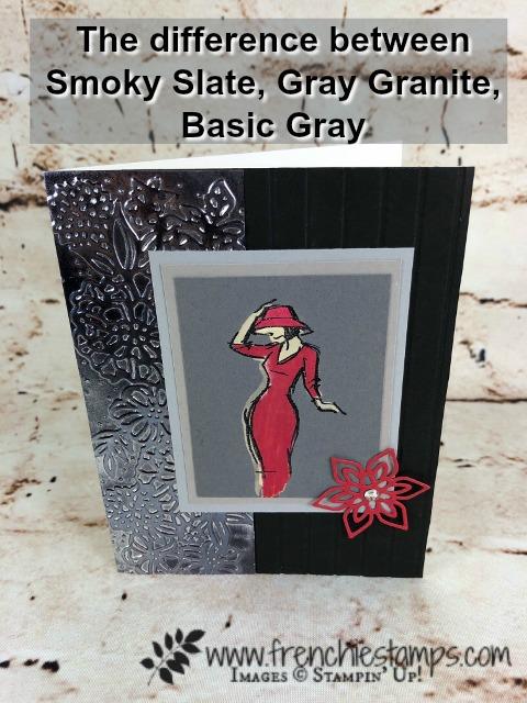 Beautiful You, Petal Pair embossing Folder, Stampin'Up! grays, Frenchiestamps,