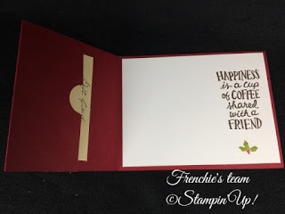Frenchie's Team, Gift Card Holder, Stampin'Up!, Coffee Cafe,