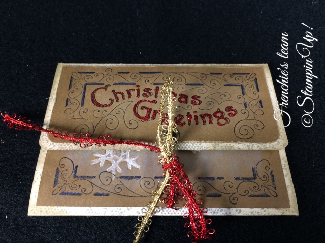 Frenchie's Team, Gift Card Holder, Stampin'Up!, Father Christmas, Lovely as a Tree