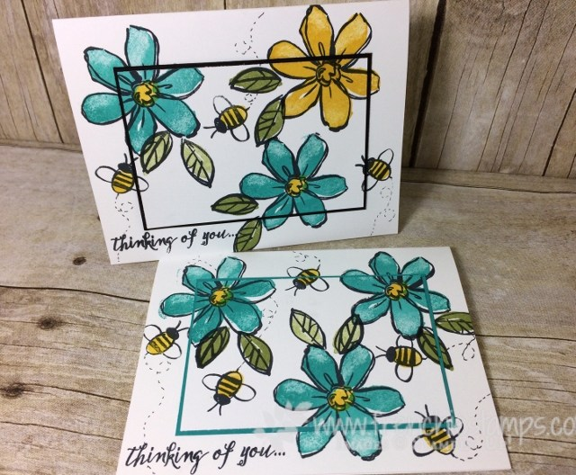 Garden in Bloom, Stampin'Up! color combination, frenchiestamps. stamp on the Go