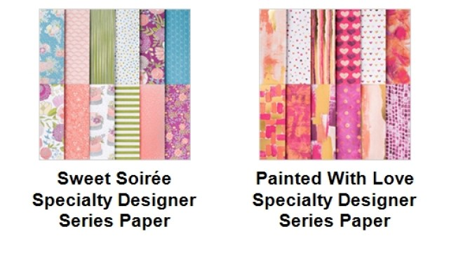 Stampin'Up! Designer Paper, Sweet Soiree, Painted With Love , Frenchiestamps, Designer Paper Share