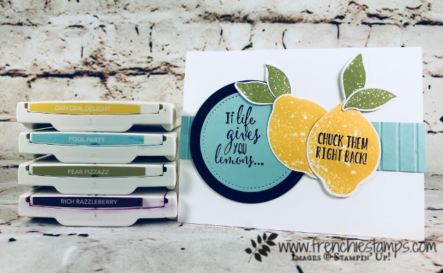 Stamparatus and punch out quick way to stamps,Lemon builder, Stampin'Up!, Frenchiestamps. Lemon Zest,
