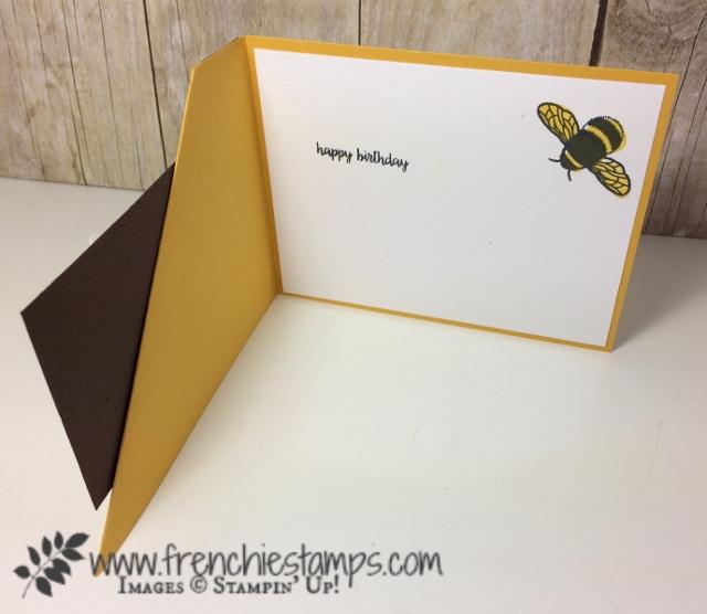 Corner Fold card, Daisy Delight, Daisy Punch, Stampin'Up!