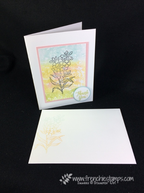 Southern Serenade, Baby Wipe Technique, clear block, Stampin'Up!,