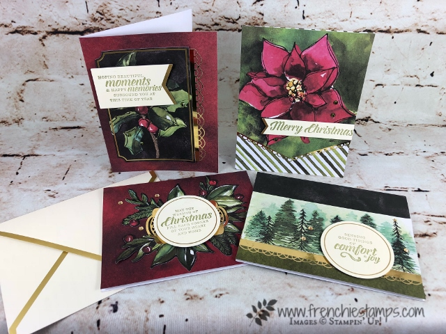Timeless Tidings Card Kit, Frenchie Paper share, stampin'Up! 2018 Holiday,