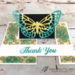 The Easy way to make the impossible card. Using the Springtime Impressions thinlits and Share what You love designer paper. Stamp set Delightful Daisy. All product are by Stampin