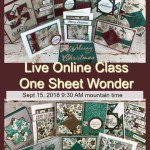One sheet wonder live class. I will share one pattern and share how to make it with 3 different print. All product is by Stampin