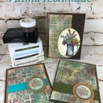 How to make the Patina Technique onto card stock. Very vintage look and amazing look. All supplies are from Stampin