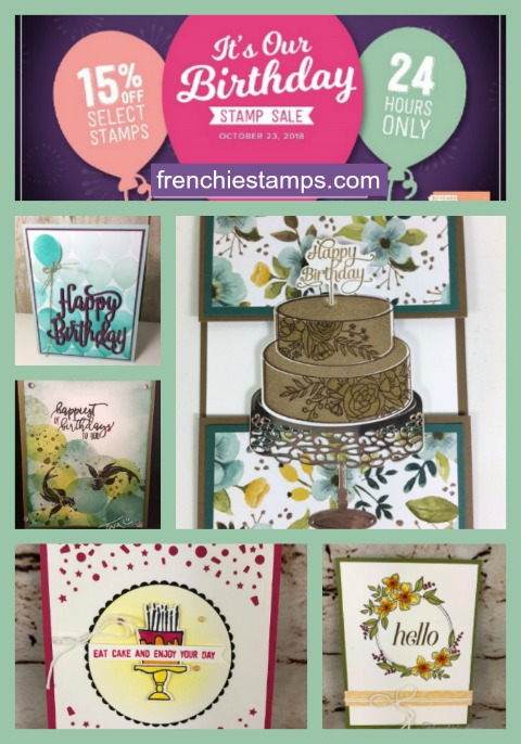 24 Hours Stampin'Up! stamps Sale. October 23, 2018