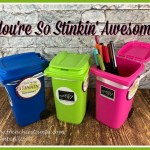 The mini trash bin are perfect to letter your friends know how awesome theyr are. All this lovely gift are for Frencie