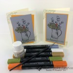 How to color the Country Home into Smokey Slate Card Stock using Stampin