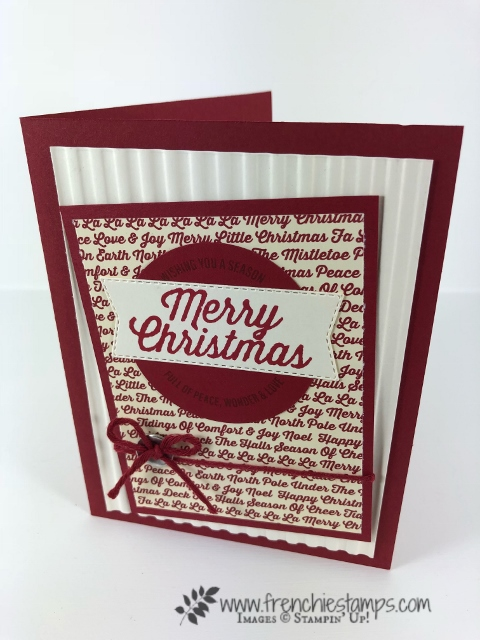 Christmas Swap with the leader group. All cards showcase products from Stampin'Up! Holiday 2018 catalog. All can be purchase at frenchiestamps.com Farmhouse Christmas