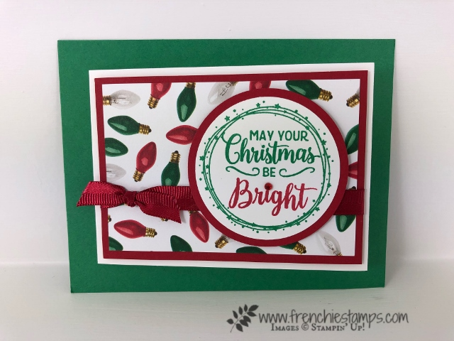 Christmas Swap with the leader group. All cards showcase products from Stampin'Up! Holiday 2018 catalog. All can be purchase at frenchiestamps.com Making Christmas Bright