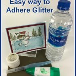 How to add glitter to your greeting cards with multipurpose glue and water. How to video with frenchiestamps. All product are by Stampin